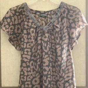 Express Women's Sheer Dress Blouse